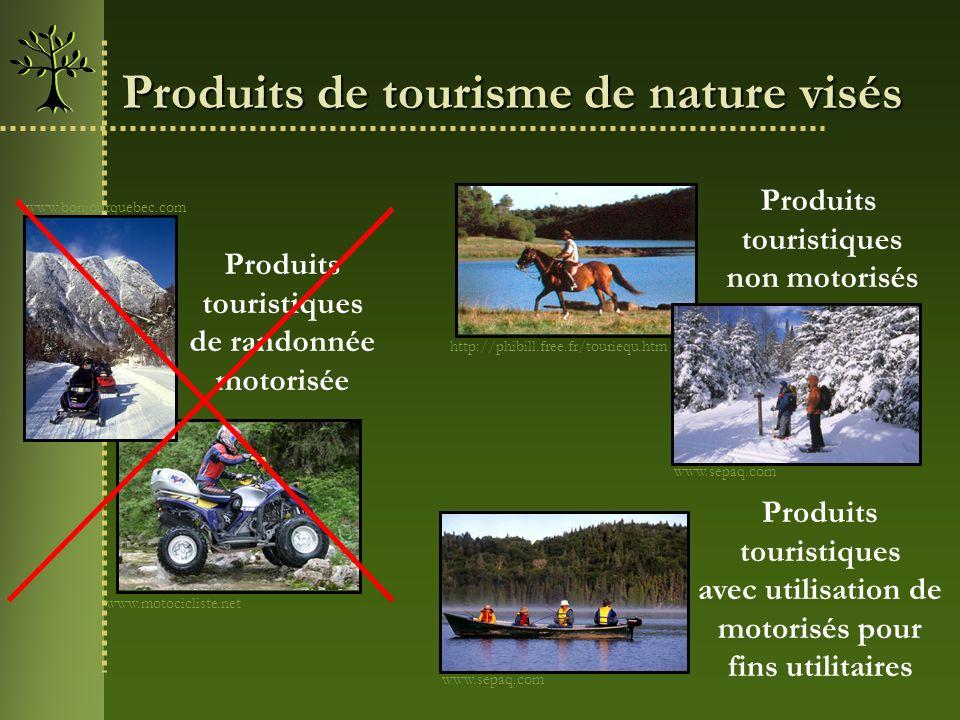 Produits de tourisme de nature visés http://phibill.free.fr/touriequ.htm www.motocicliste.net Produits touristiques de randonnée motorisée Produits to