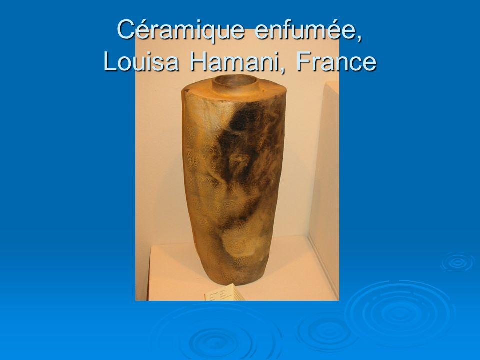 Céramique enfumée, Louisa Hamani, France