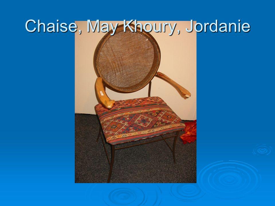 Chaise, May Khoury, Jordanie