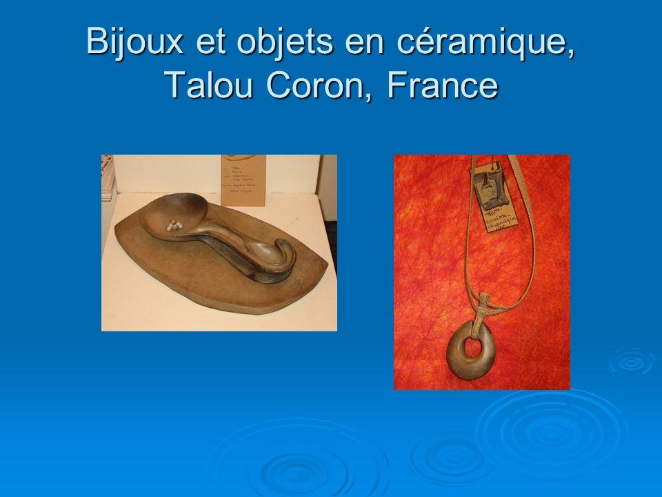 Bijoux et objets en céramique, Talou Coron, France