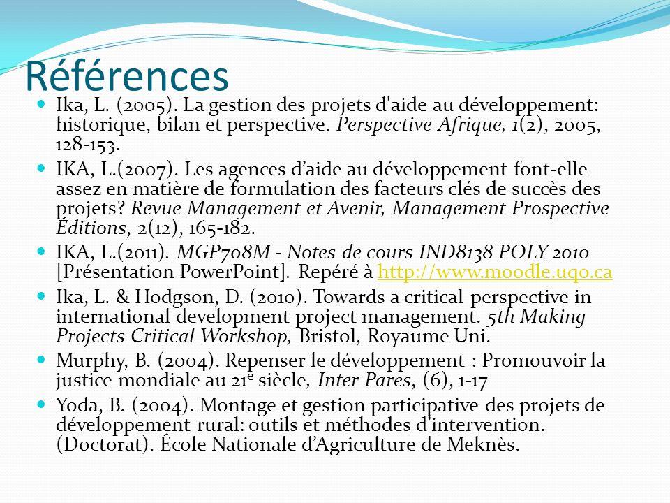 Références Ika, L.(2005).