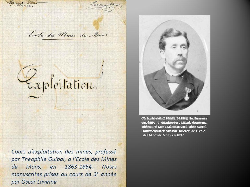 Cours dexploitation des mines, professé par Théophile Guibal, à lEcole des Mines de Mons, en 1863-1864.