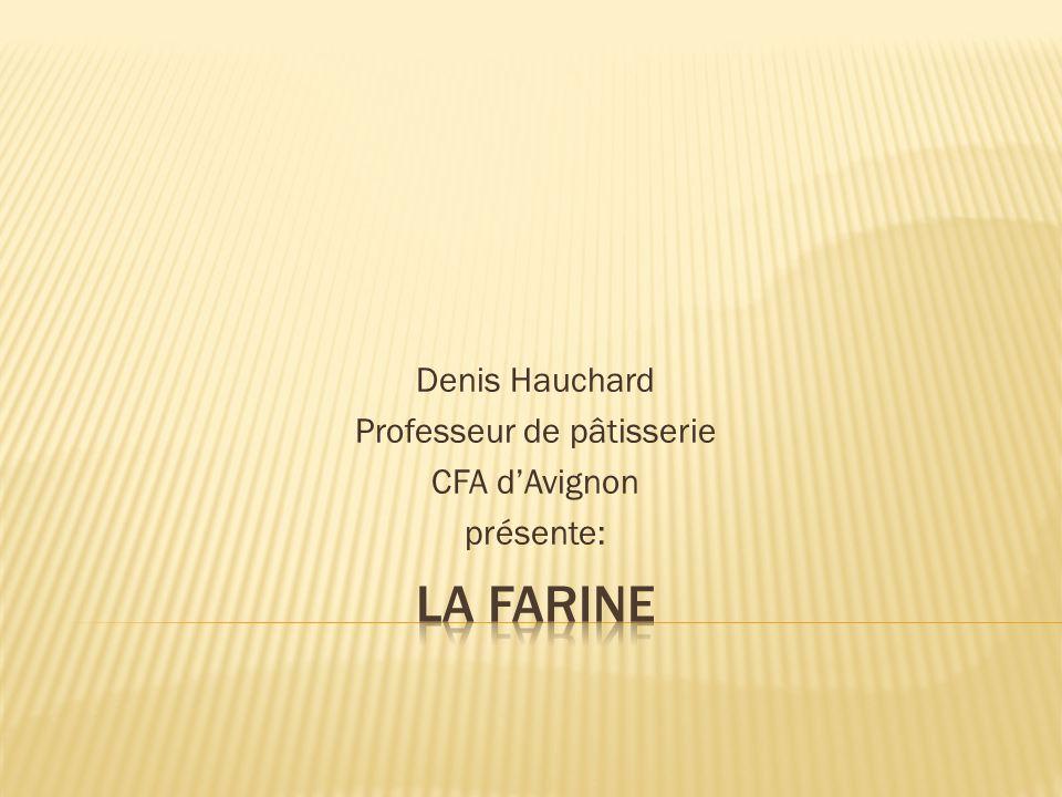 Denis Hauchard Professeur de pâtisserie CFA dAvignon présente: