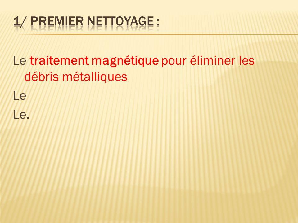 Le traitement magnétique pour éliminer les débris métalliques Le Le.