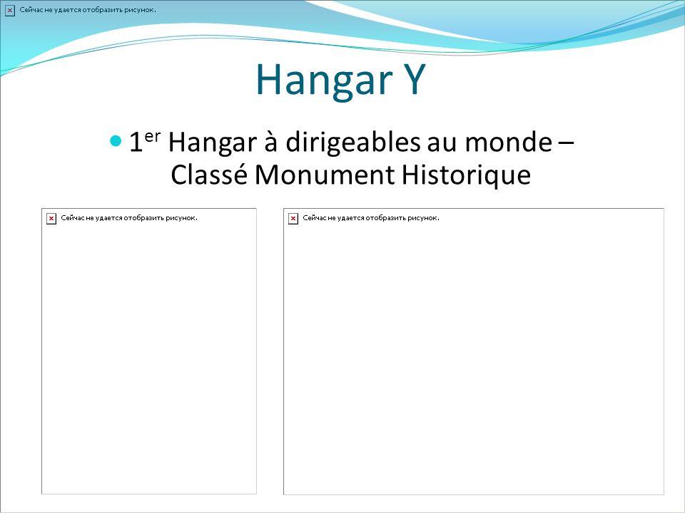 Hangar Y 1 er Hangar à dirigeables au monde – Classé Monument Historique