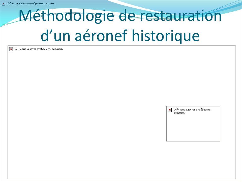 Méthodologie de restauration dun aéronef historique