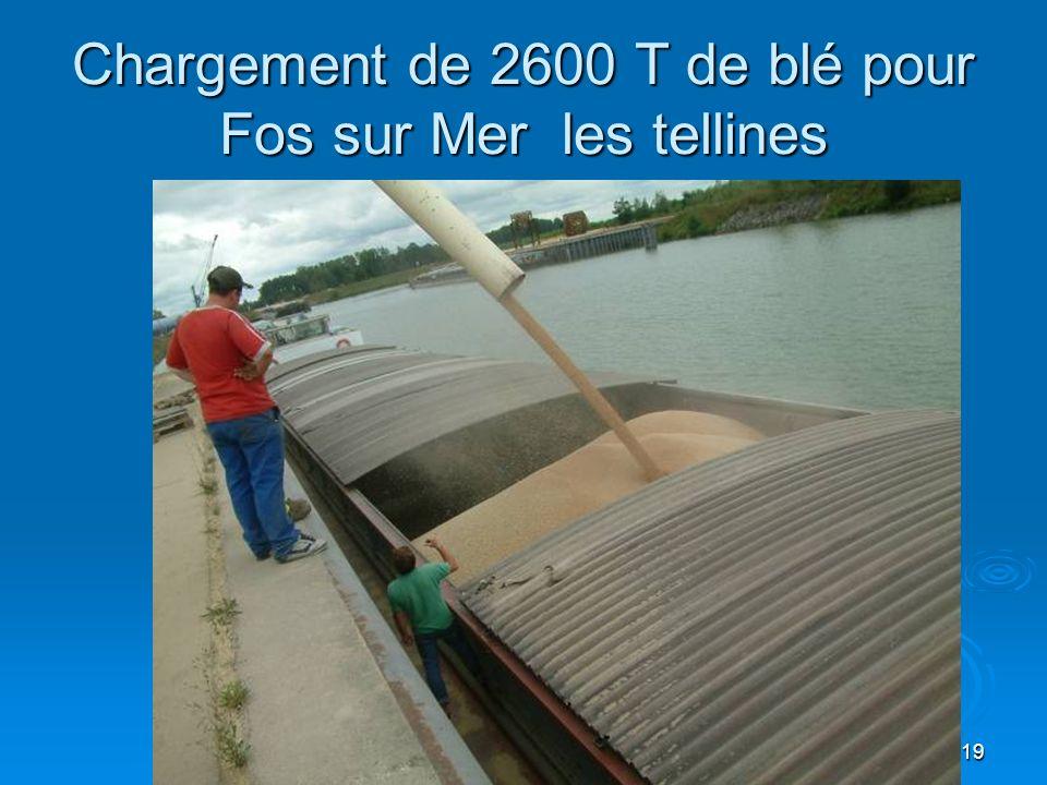 19 Chargement de 2600 T de blé pour Fos sur Mer les tellines