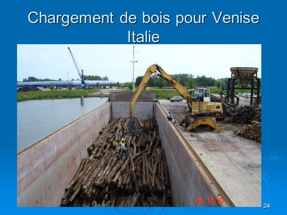 24 Chargement de bois pour Venise Italie