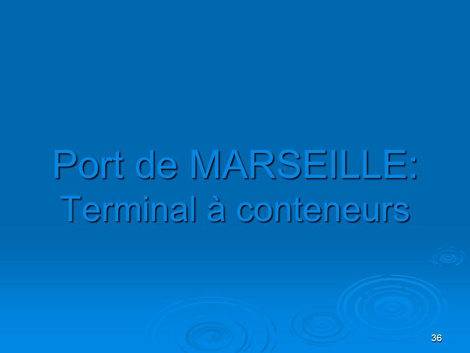 36 Port de MARSEILLE: Terminal à conteneurs