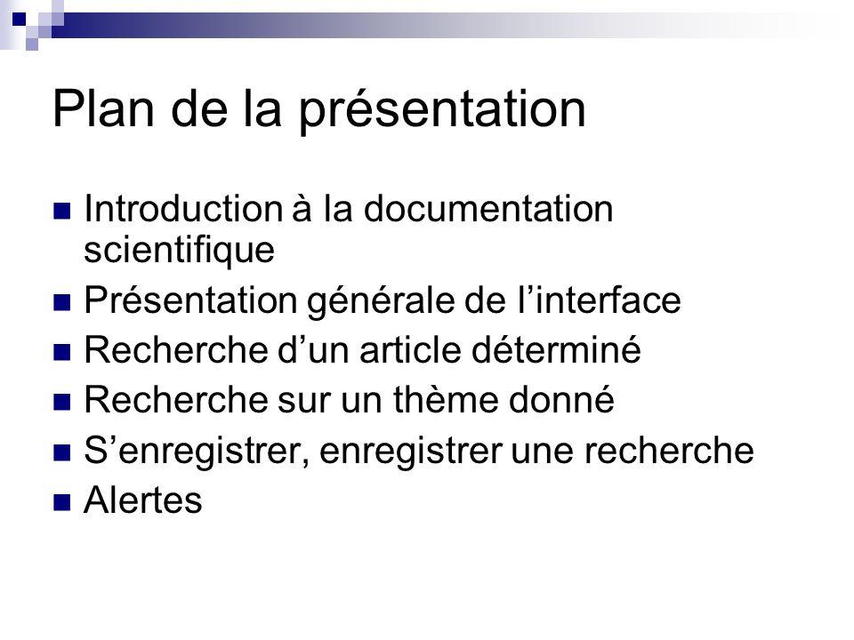 Introduction à la documentation scientifique La documentation scientifique concerne tous les documents rédigés par des scientifiques.