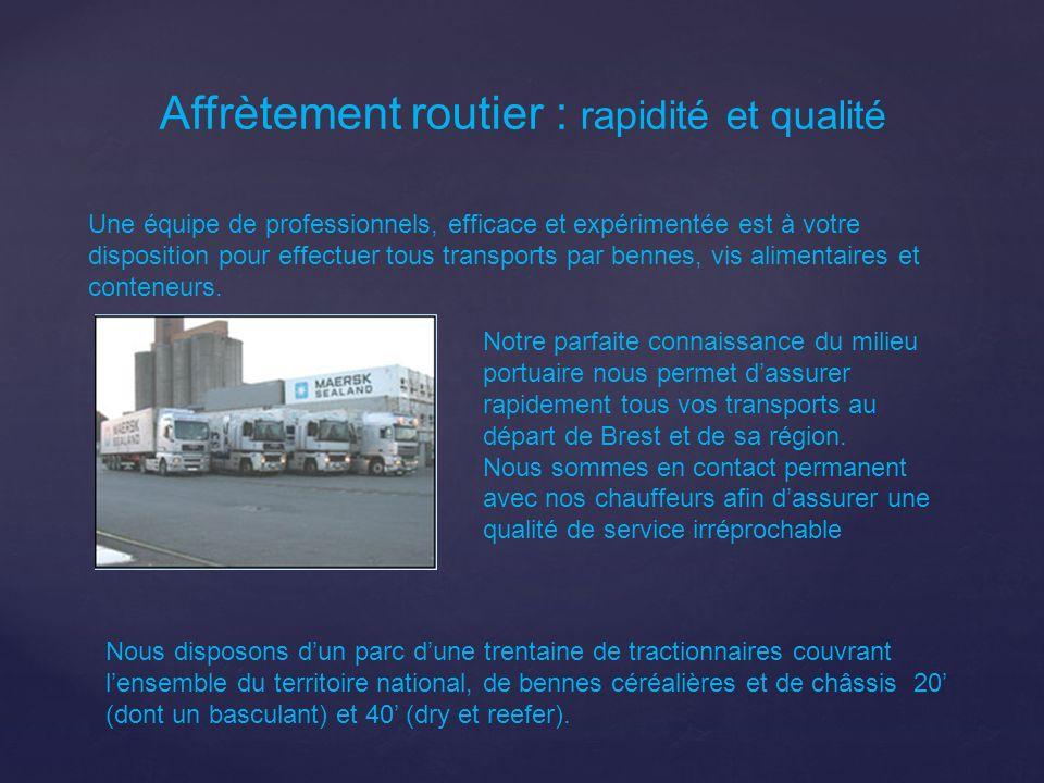 Affrètement routier : rapidité et qualité Une équipe de professionnels, efficace et expérimentée est à votre disposition pour effectuer tous transport