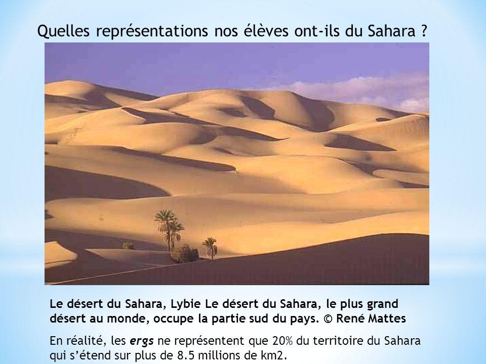 Le désert du Sahara, Lybie Le désert du Sahara, le plus grand désert au monde, occupe la partie sud du pays.