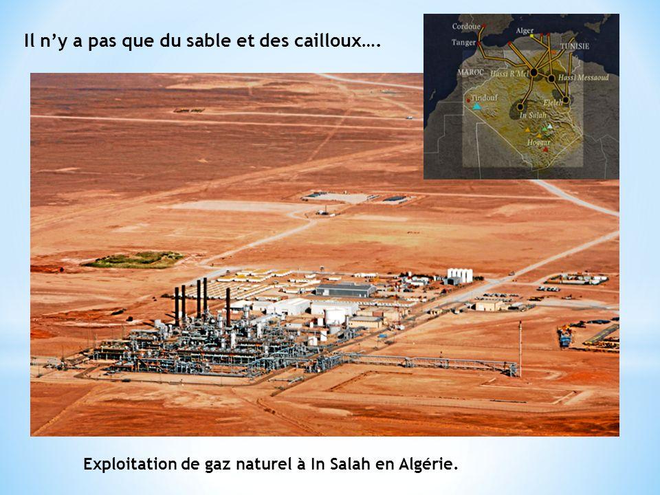 Il ny a pas que du sable et des cailloux…. Exploitation de gaz naturel à In Salah en Algérie.