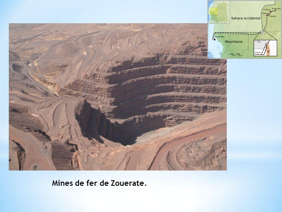 Mines de fer de Zouerate.