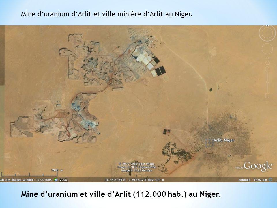 Mine duranium dArlit et ville minière dArlit au Niger.
