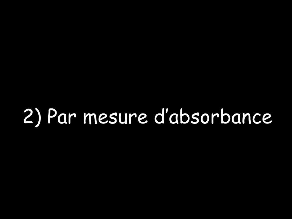 2) Par mesure dabsorbance