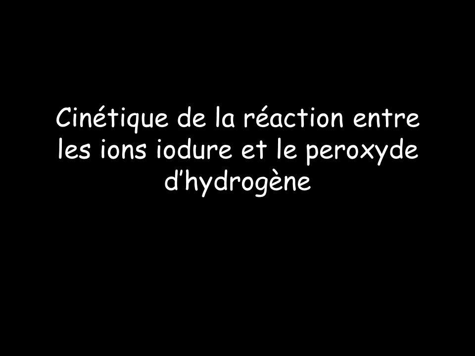 Cinétique de la réaction entre les ions iodure et le peroxyde dhydrogène