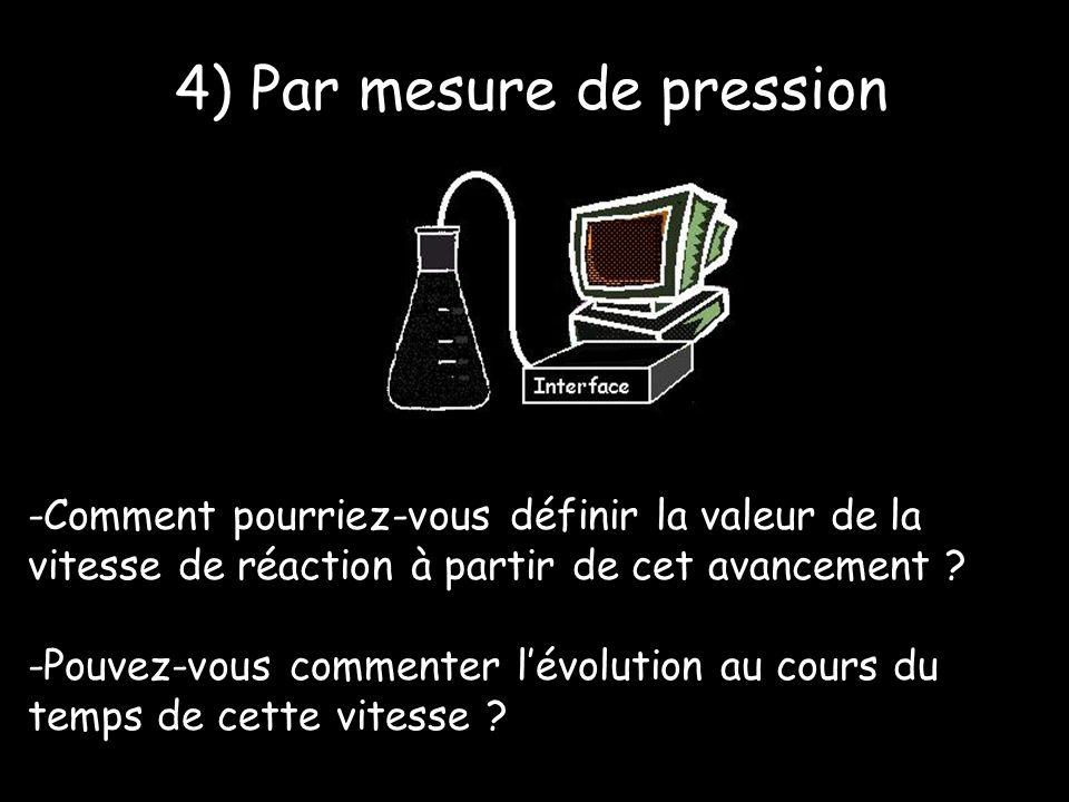 -Comment pourriez-vous définir la valeur de la vitesse de réaction à partir de cet avancement .