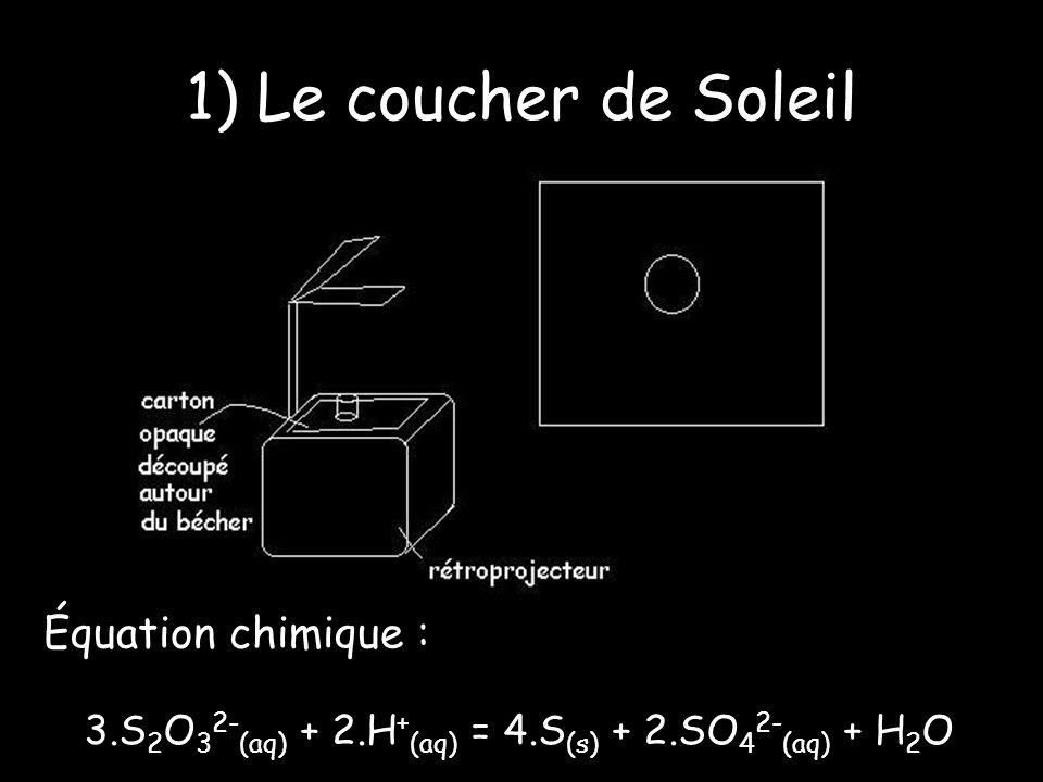 1) Équations chimiques H 2 O 2 / H 2 O I 2 /I -