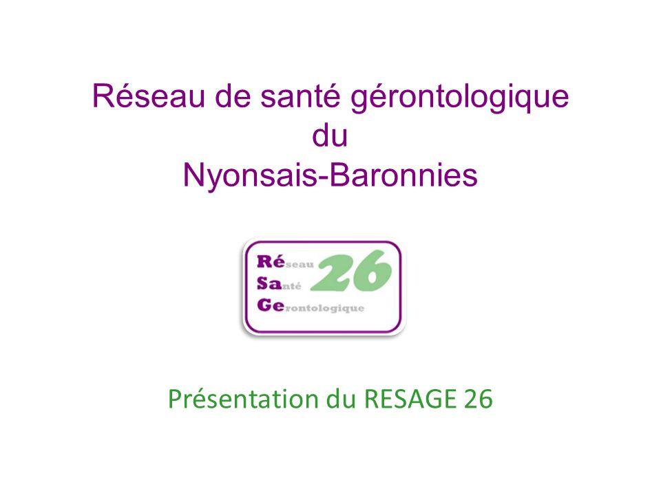 Réseau de santé gérontologique du Nyonsais-Baronnies Présentation du RESAGE 26