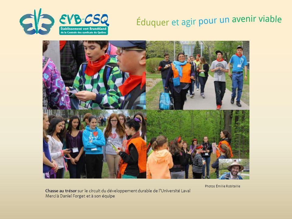 Photos Émilie Robitaille Chasse au trésor sur le circuit du développement durable de lUniversité Laval Merci à Daniel Forget et à son équipe