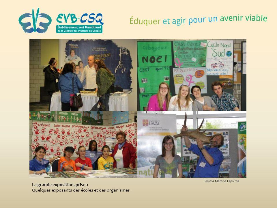 Photos Martine Lapointe La grande exposition, prise 1 Quelques exposants des écoles et des organismes