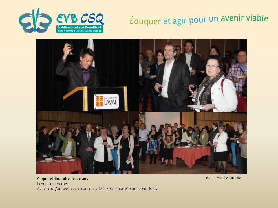 Photos Martine Lapointe Coquetel dînatoire des 20 ans Levons nos verres ! Activité organisée avec le concours de la Fondation Monique-Fitz-Back