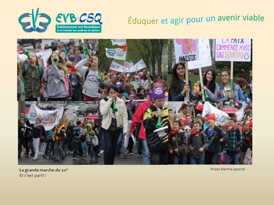 Photos Martine Lapointe La grande marche du 20 e Et cest parti !
