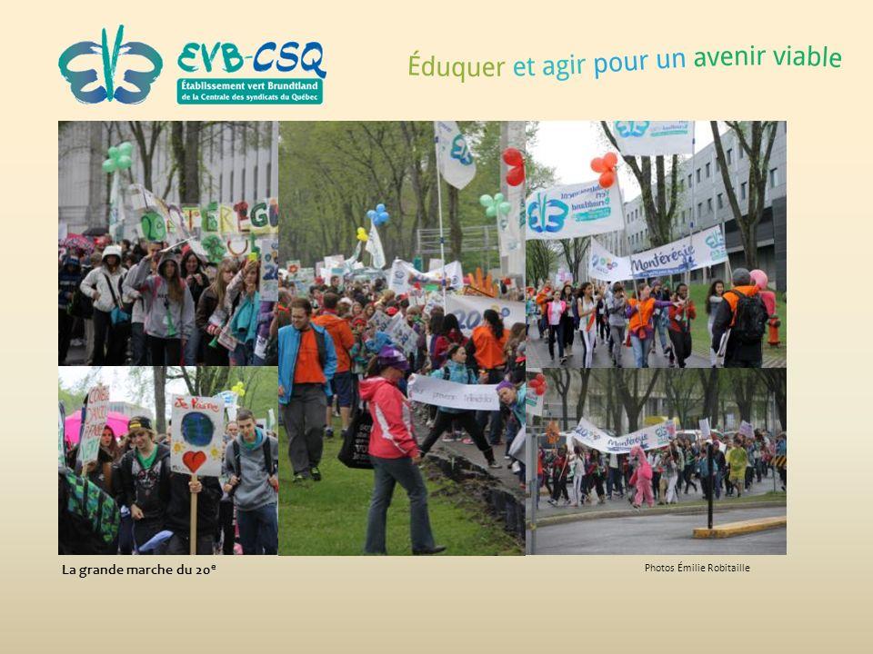 Photos Émilie Robitaille La grande marche du 20 e