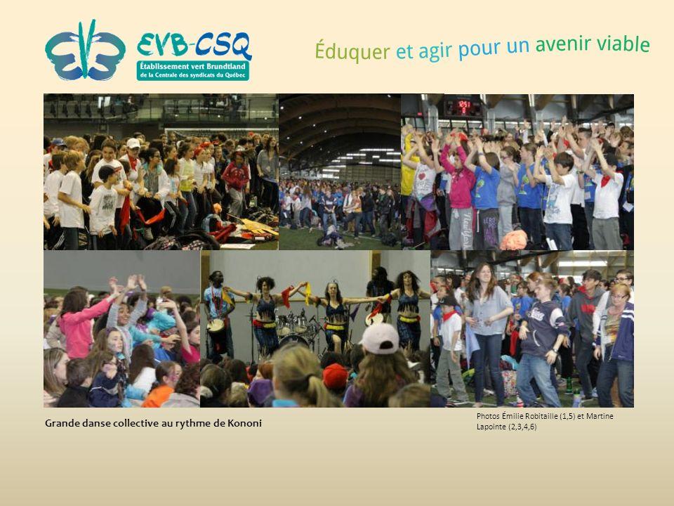 Photos Émilie Robitaille (1,5) et Martine Lapointe (2,3,4,6) Grande danse collective au rythme de Kononi