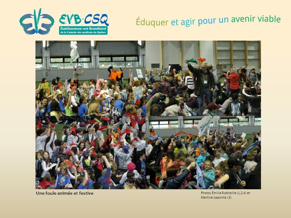Photos Émilie Robitaille (1,2,4) et Martine Lapointe (3) Une foule animée et festive