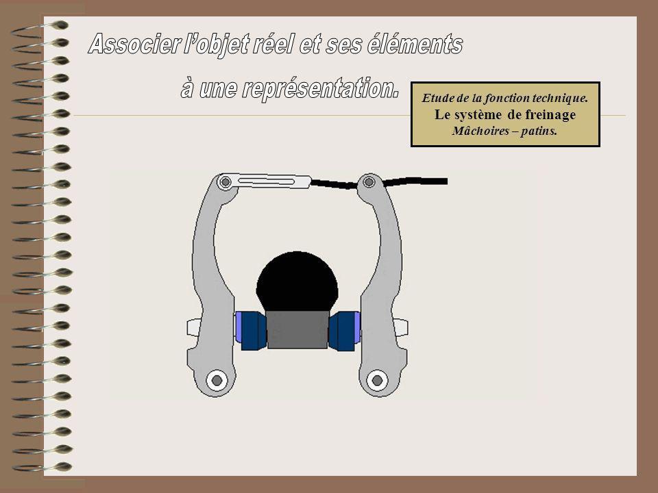 Etude de la fonction technique. Le système de freinage Mâchoires – patins.