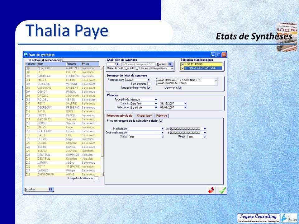 Thalia Paye Etats de Synthèses