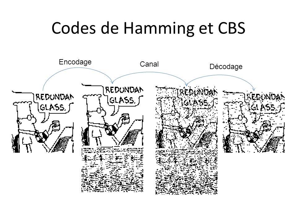 Codes de Hamming et CBS Encodage Canal Décodage