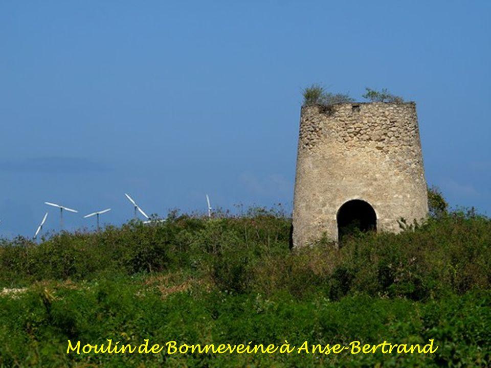 Moulin et éoliennes de Petit-Canal