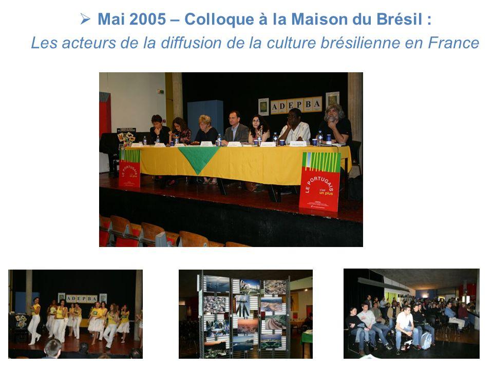 Mai 2006 - Colloque à la Maison du Brésil : Le Brésil, pays dinnovation
