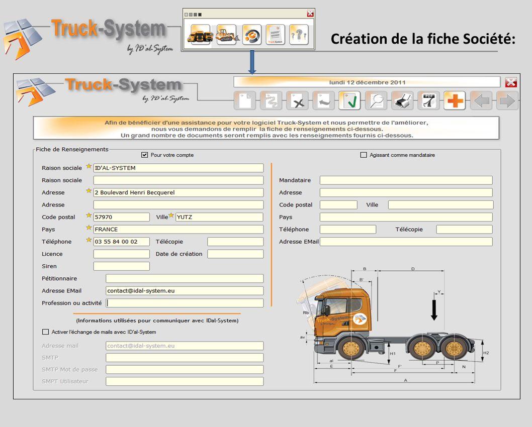 Après avoir sélectionné un ensemble routier Truck- System édite la demande complète de demande dautorisation Individuelle de transport exceptionnel