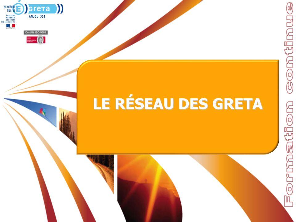 Présentation du GRETA, le 28 février 2012 – Université dAngers …………………….. LE RÉSEAU DES GRETA
