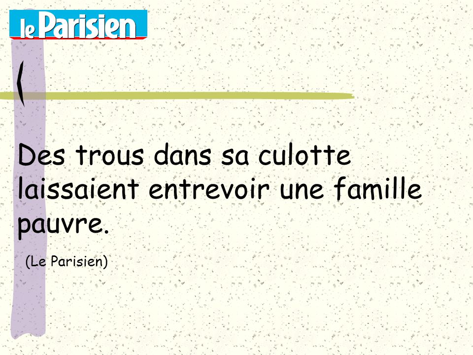 La conférence sur la constipation sera suivie d un pot amical. (Ouest-France)