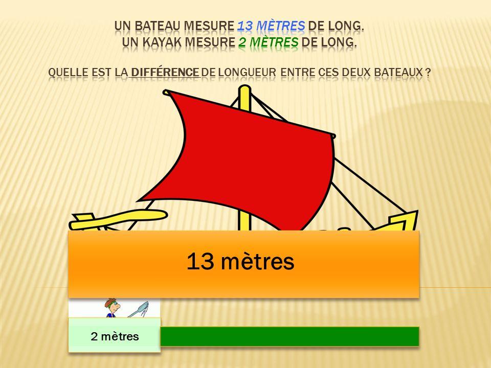 13 mètres 2 mètres