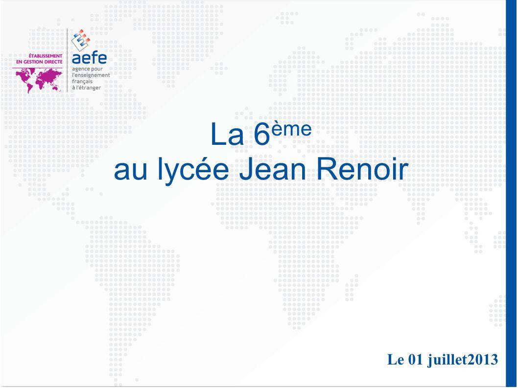 La 6 ème au lycée Jean Renoir Le 01 juillet2013