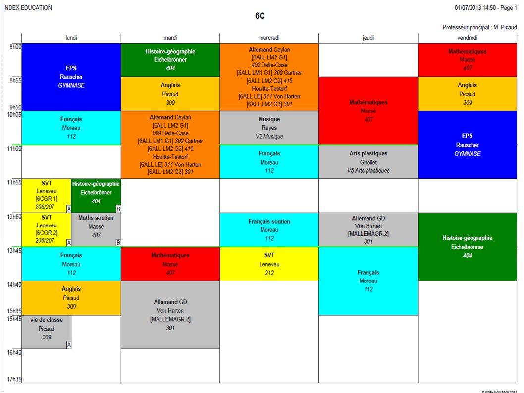Pronote Cahier de texte en ligne Suivi des absences et des retards Mise en ligne des bulletins Outil de communication du lycée vers les parents