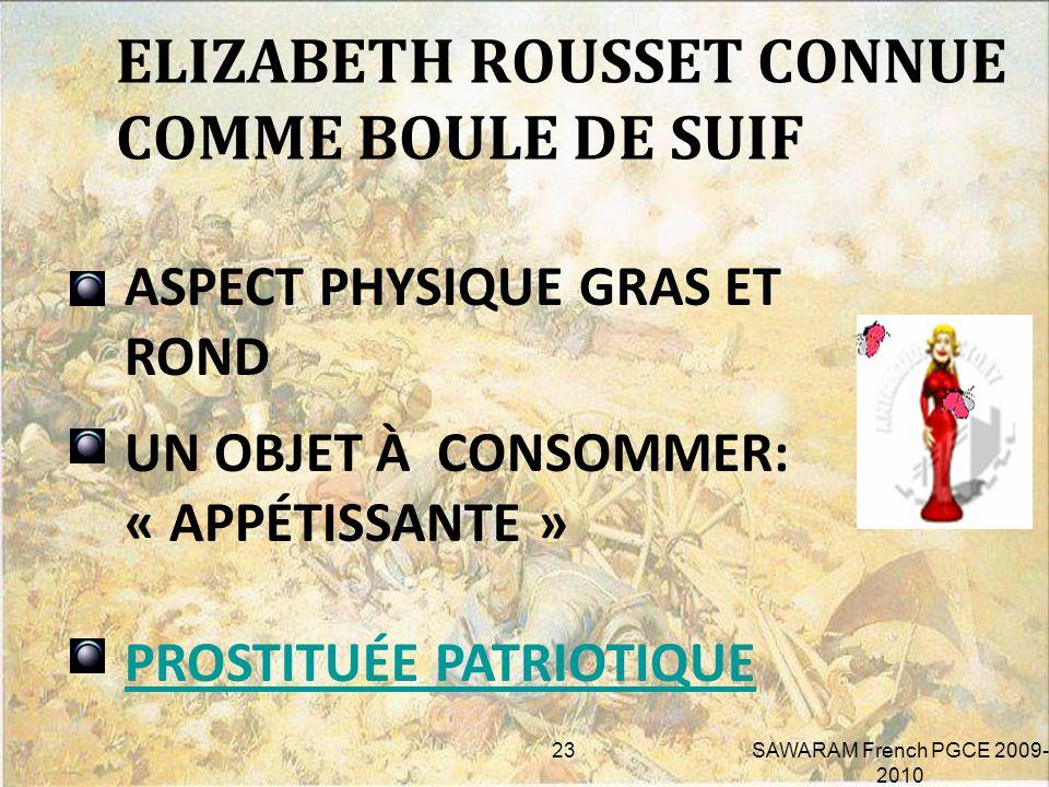 HUMILIATION HONTE PUBLIQUE VENDUE SANS VERGOGNE CONTACT IMPUR 6. LA FEMME PROSTITUÉE 22SAWARAM French PGCE 2009- 2010