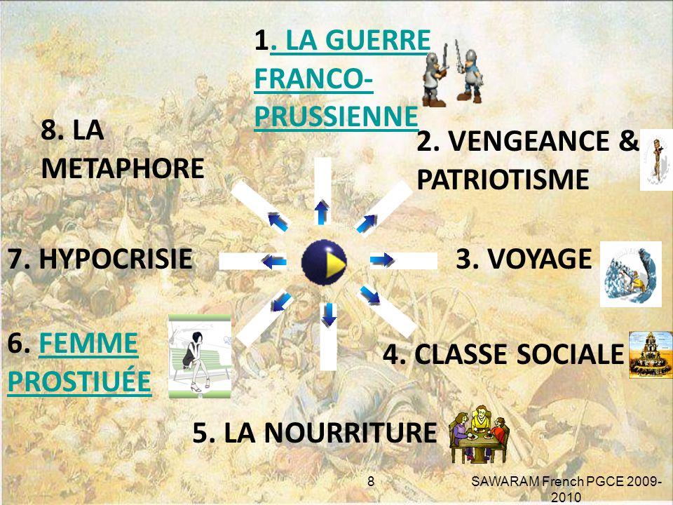 BASÉ SUR LES FAITS RÉELS. QUEST-CE QUI FAIT DE « BOULE DE SUIF » UN RÉCIT RÉALISTE? LA GUERRE FRANCO- PRUSSIENNE DE 1870-1871 7 SAWARAM French PGCE 20