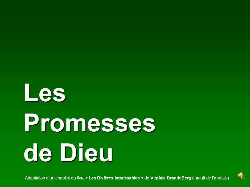 Les Promesses de Dieu Adaptation dun chapitre du livre « Les Rivières intarissables » de Virginia Brandt Berg (traduit de langlais)