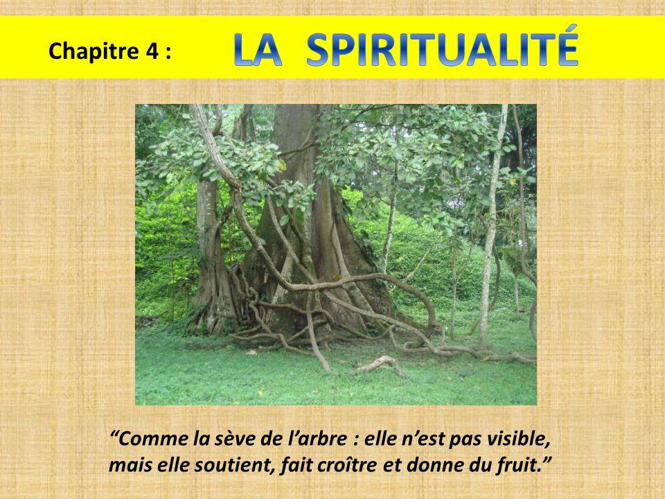 Chapitre 4 : Comme la sève de larbre : elle nest pas visible, mais elle soutient, fait croître et donne du fruit.