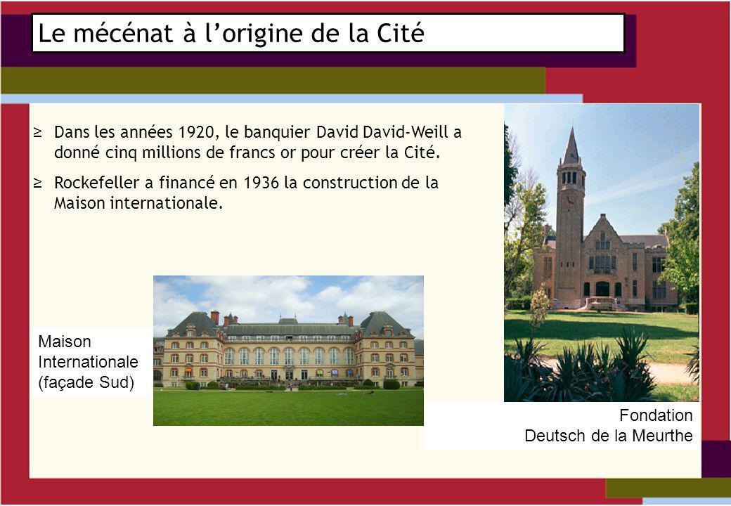 Dans les années 1920, le banquier David David-Weill a donné cinq millions de francs or pour créer la Cité.