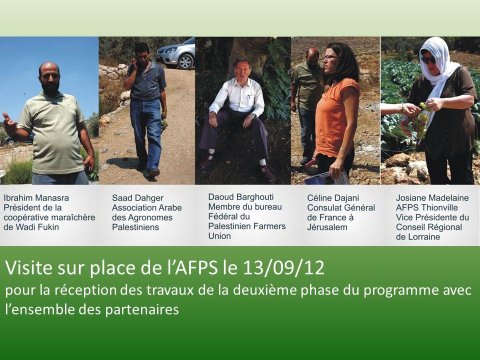 Visite sur place de lAFPS le 13/09/12 pour la réception des travaux de la deuxième phase du programme avec lensemble des partenaires