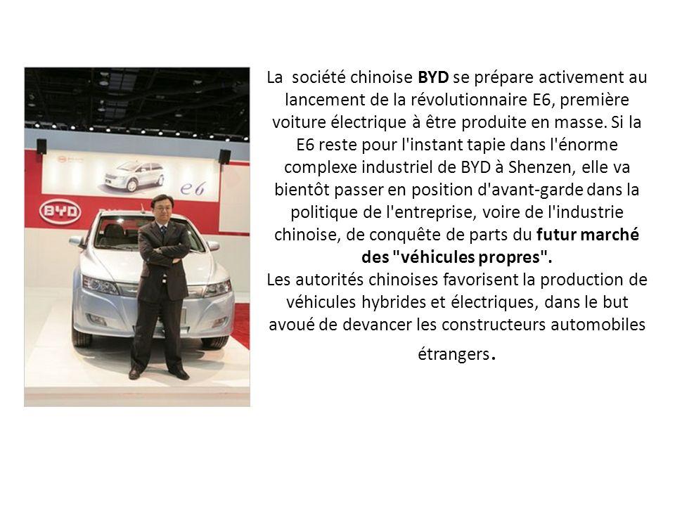 La société chinoise BYD se prépare activement au lancement de la révolutionnaire E6, première voiture électrique à être produite en masse.