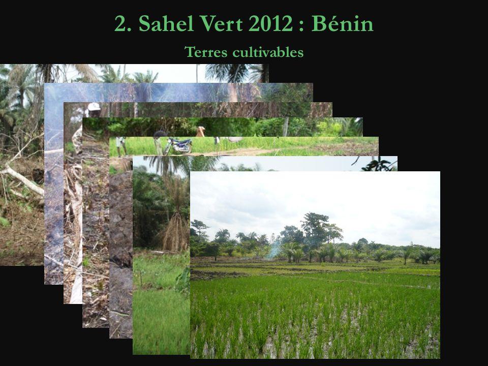 2. Sahel Vert 2012 : Bénin Terres cultivables